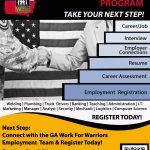 Georgia Work for Warriors Employment Team!  Just Announced!
